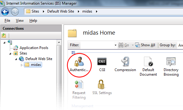 IIS 7 Authentication