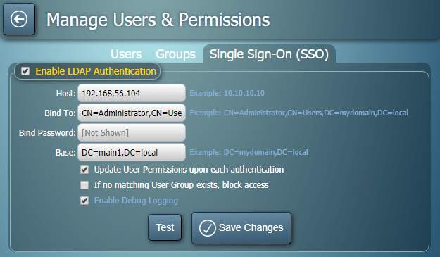 MIDAS Single Sign On (SSO) settings