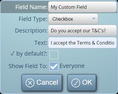 Create your own custom fields in MIDAS