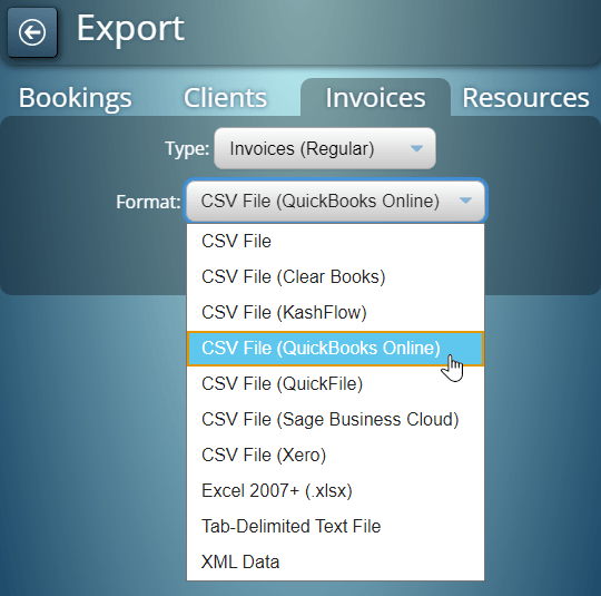 Export invoices from MIDAS to QuickBooks Online, Sage Business Cloud, Xero, and more
