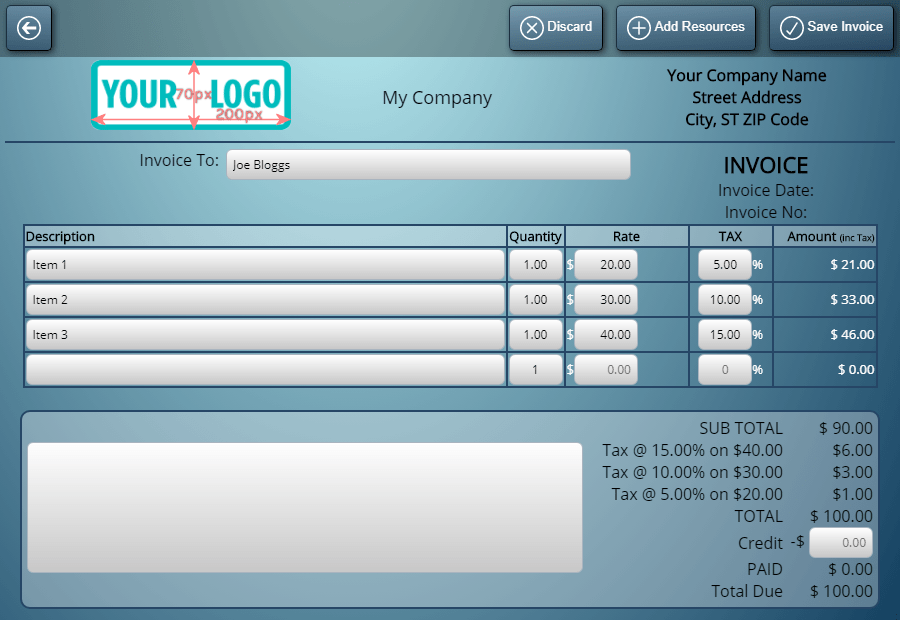 Customize your invoices in MIDAS