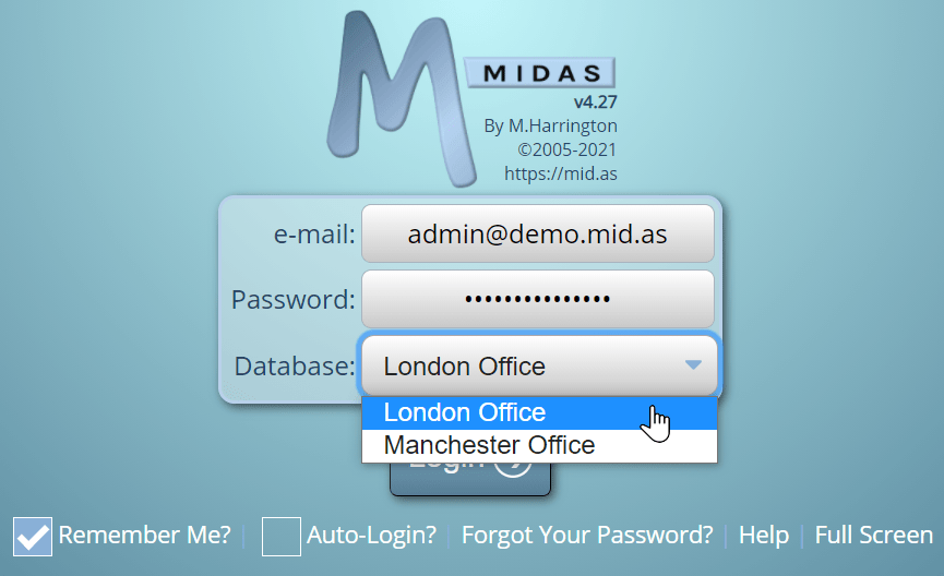 Run multiple separate databases in a single MIDAS system