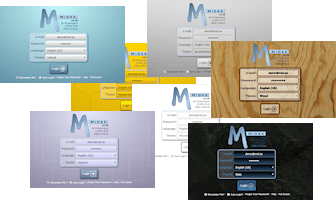 A range of visual themes are included with each MIDAS scheduling system as standard