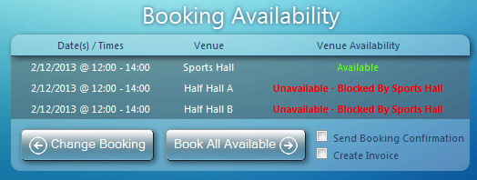 Booking Availability