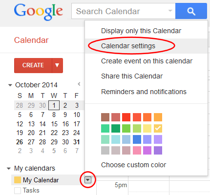 Import a Google Calendar into MIDAS