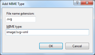 Add SVG MIME Type to IIS