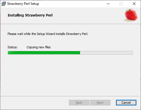 Installing Strawberry Perl