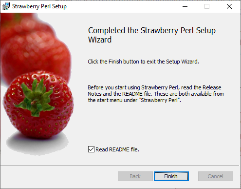 Strawberry Perl Installed