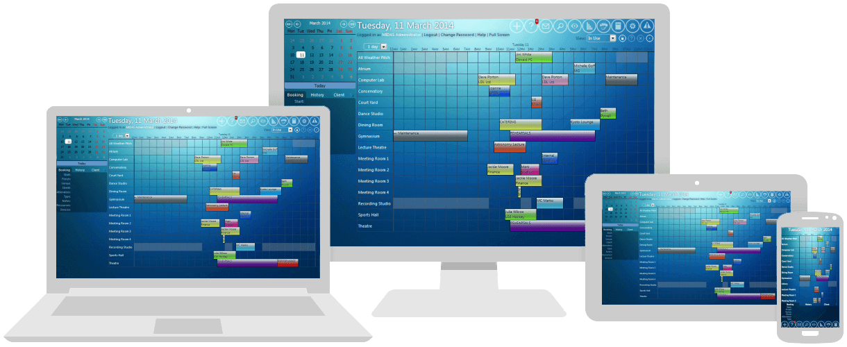 recording studio booking system software. MIDAS is available in both Cloud hosted & download/on-premises editions