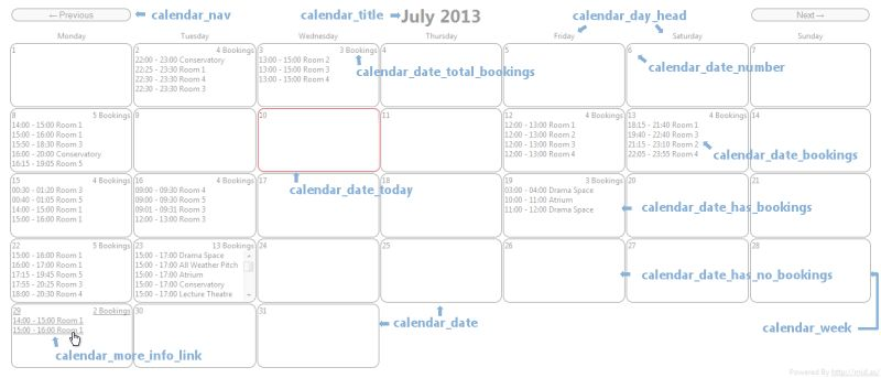 Embeddable Web Calendar Style Guide